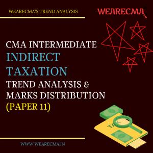 CMA Intermediate Indirect Taxation Trend Analysis