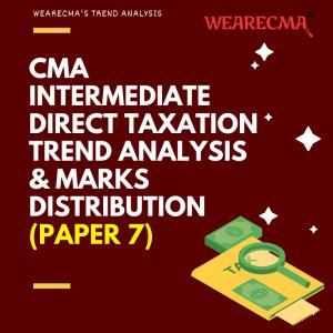 cma intermediate Direct Taxation trend analysis